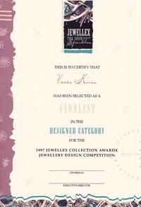 Jewellex 1997 finalist