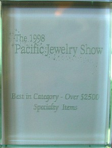 Pacific Jewellery Show 1998 trophy