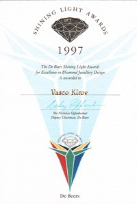 De beers shining light award 1997