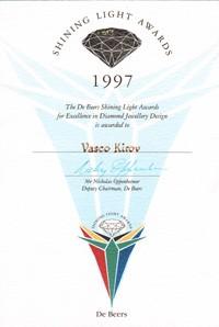 De beers shining light award 1997