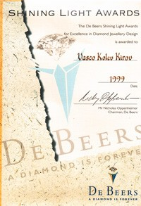 De beers shining light award 1999