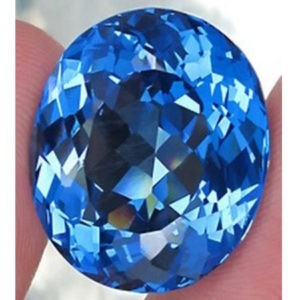10.33ct oval blue topaz