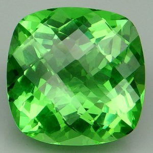 16.8ct cushion apple green amethyst