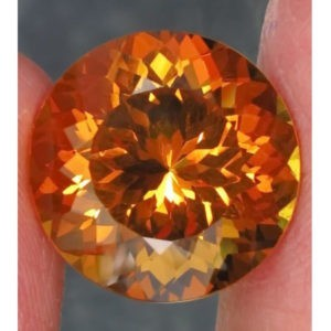 17.2ct round golden citrine