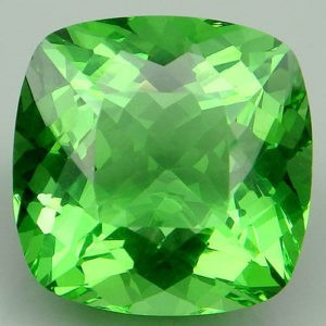 18.05ct cushion apple green amethyst