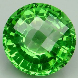 18ct round apple green amethyst
