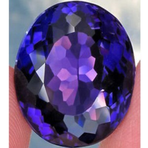 19.3ct oval purple amethyst