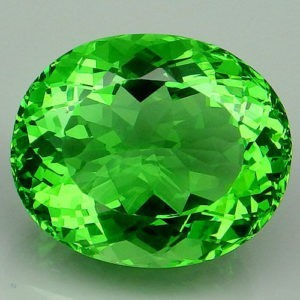 22.45ct oval apple green amethyst