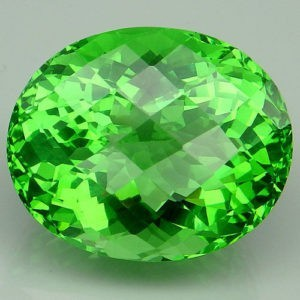 23.4ct oval apple green amethyst