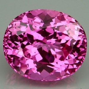 29.7ct oval pink topaz.