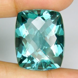 30.05ct cushion sea green amethyst