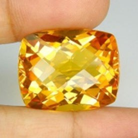 31.15ct cushion golden citrine