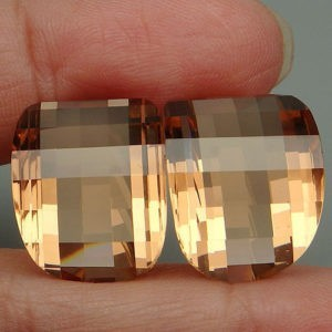34.8ct morganite fancy pair