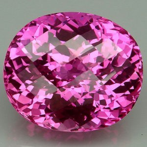 35ct oval pink topaz.