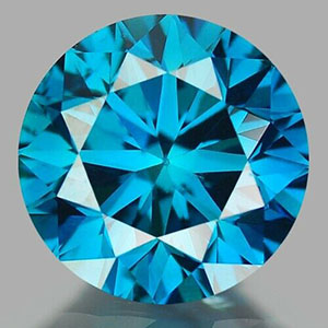 Irradiated fancy blue diamond