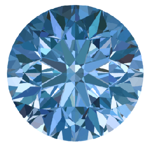 Natural fancy blue diamond