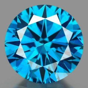 0.50ct irradiated blue diamond